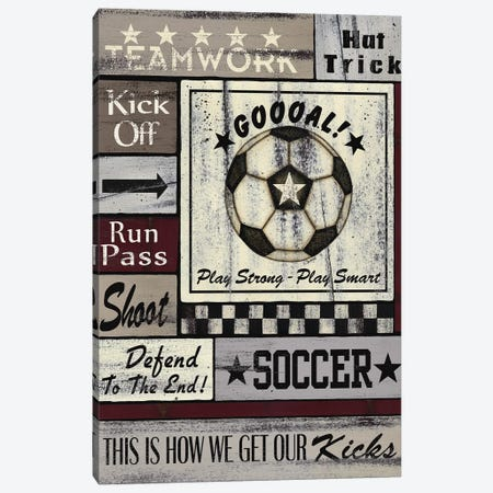 Soccer Goal Canvas Print #SPV24} by Linda Spivey Canvas Art Print