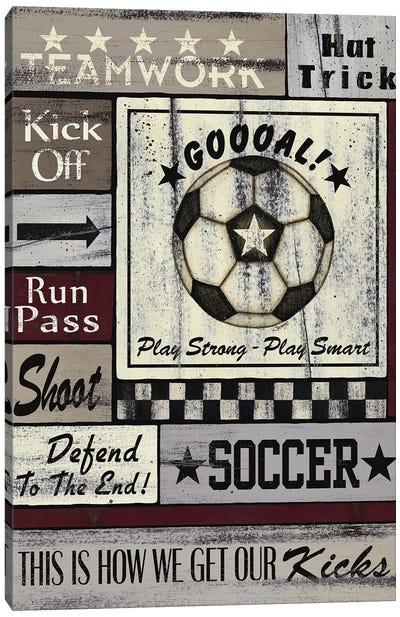 Soccer Goal Canvas Art Print
