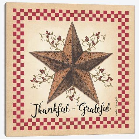 Thankful Grateful Barnstar Canvas Print #SPV25} by Linda Spivey Art Print