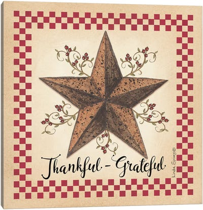 Thankful Grateful Barnstar Canvas Art Print
