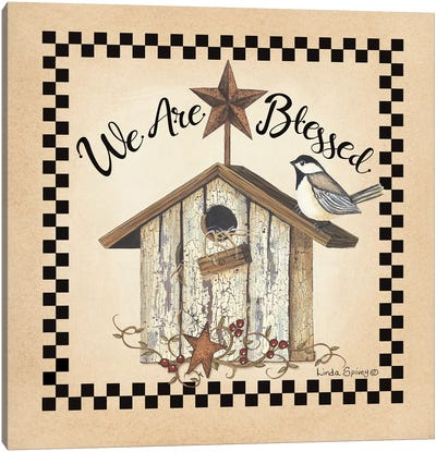 We Are Blessed Birdhouse Canvas Art Print