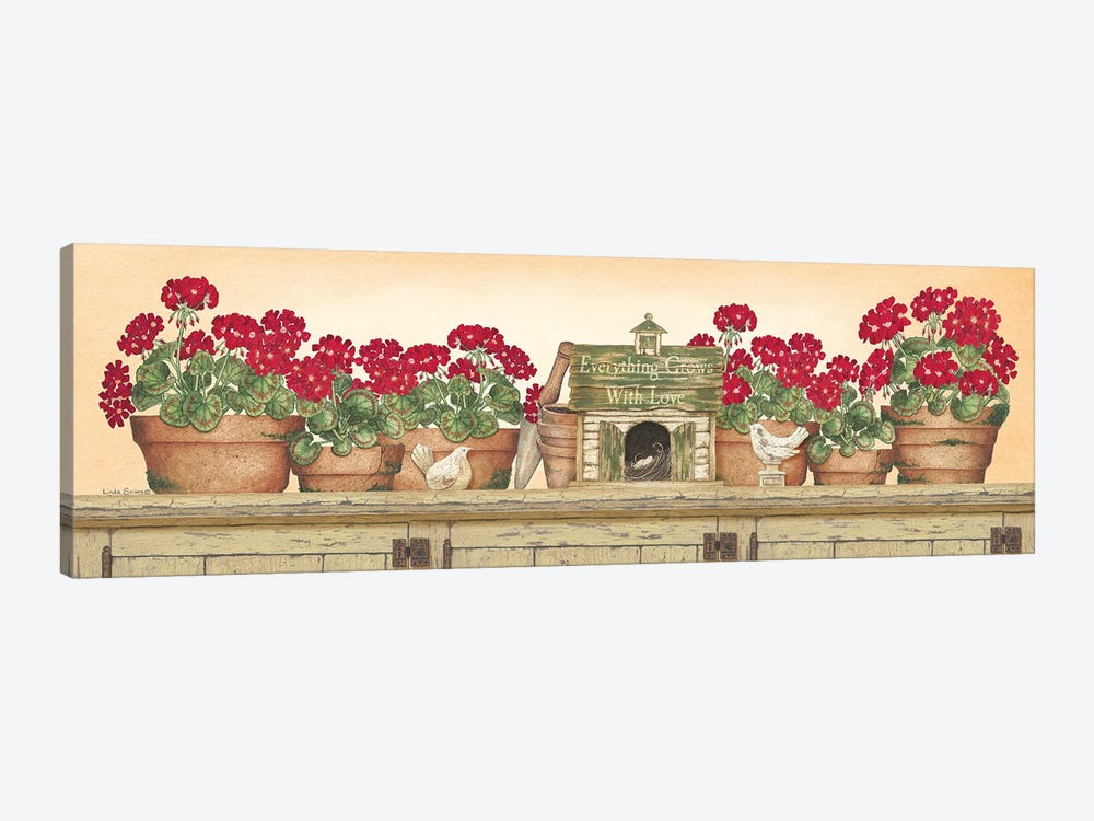 Everything Grows With Love by Linda Spivey 1-piece Canvas Wall Art