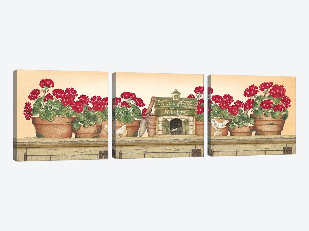 Everything Grows With Love by Linda Spivey 3-piece Canvas Artwork