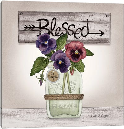 Pansy Blessing Canvas Art Print