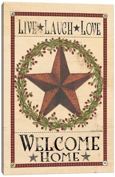 Welcome Home Barn Star Canvas Art Print