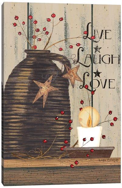 Live Laugh Love Canvas Art Print