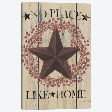 No Place Like Home Wreath Canvas Print #SPV9} by Linda Spivey Canvas Art Print