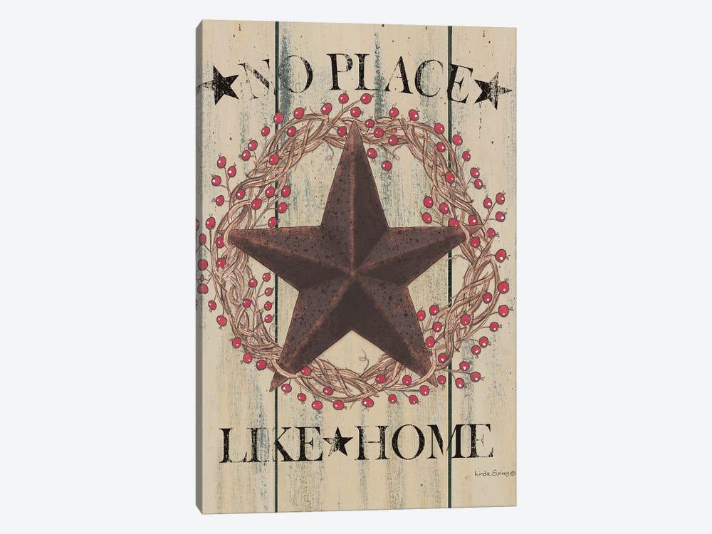 No Place Like Home Wreath by Linda Spivey 1-piece Canvas Art Print