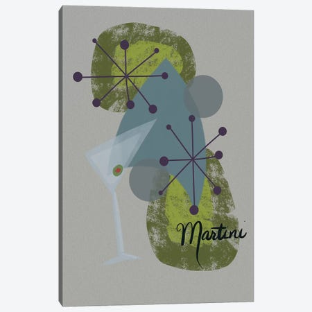 Mid Century Martini Canvas Print #SPW166} by Mary Sparrow Canvas Artwork
