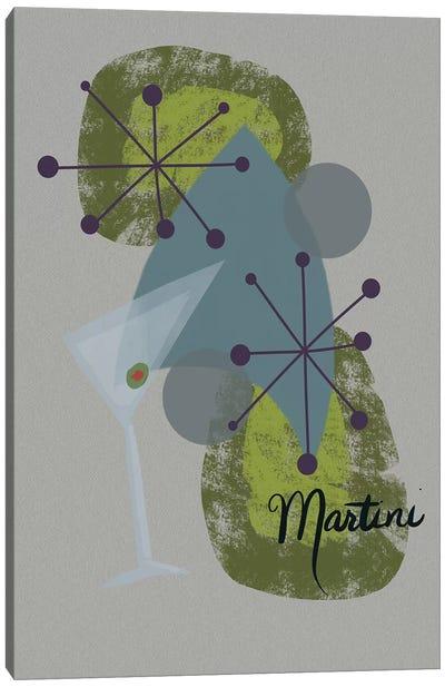 Mid Century Martini Canvas Art Print