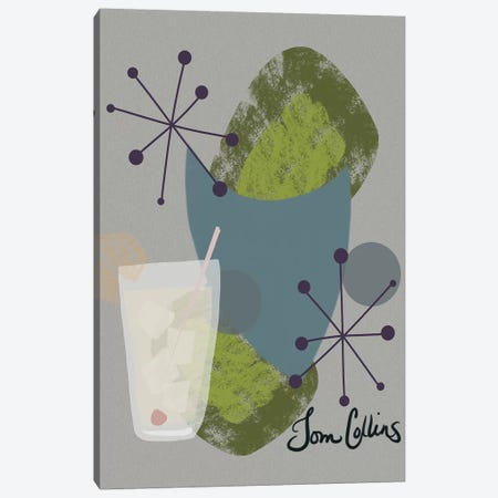Mid Century Tom Collins Canvas Print #SPW167} by Mary Sparrow Canvas Wall Art