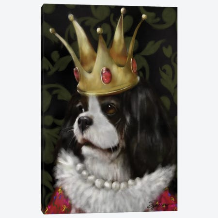 Queenie Canvas Print #SPW215} by Mary Sparrow Canvas Artwork