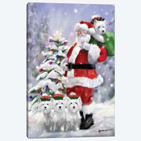 Santas Elves Canvas Print #SPW223} by Mary Sparrow Canvas Art