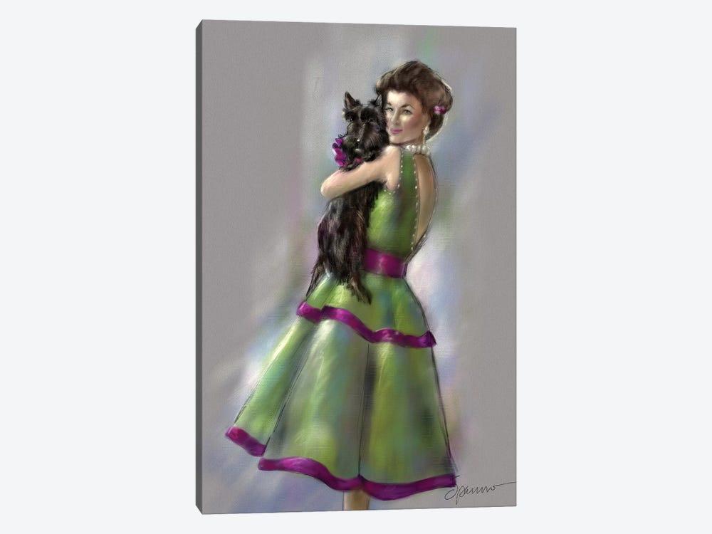 Scottie Love by Mary Sparrow 1-piece Canvas Art Print