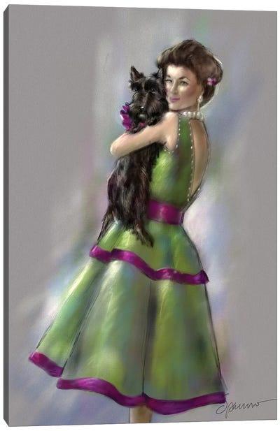 Scottie Love Canvas Art Print