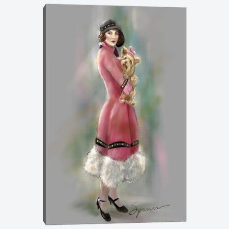 Yorkie Love Canvas Print #SPW266} by Mary Sparrow Canvas Art Print