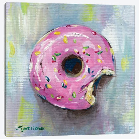 Donut Canvas Print #SPW268} by Mary Sparrow Canvas Art