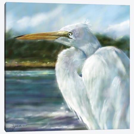 Heron Marsh Canvas Print #SPW290} by Mary Sparrow Art Print