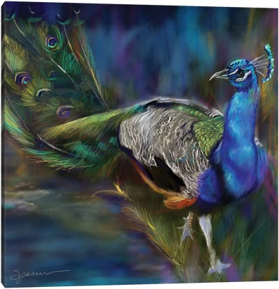 Peacock Blues Canvas Art Print