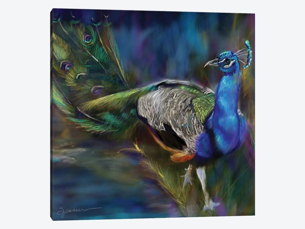 Peacock Blues by Mary Sparrow 1-piece Canvas Art