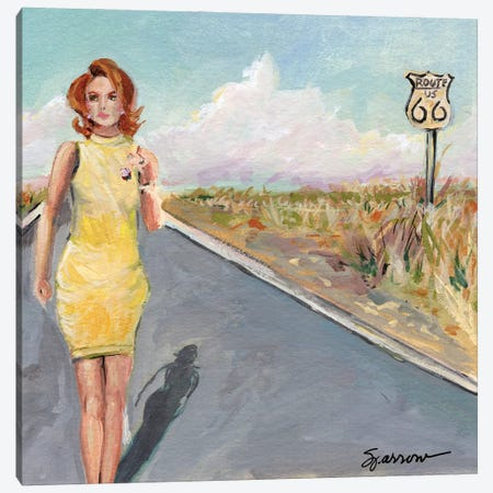 The Road Well Traveled Canvas Print #SPW306} by Mary Sparrow Canvas Art