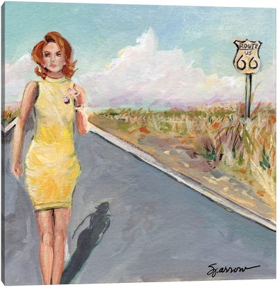 The Road Well Traveled Canvas Art Print