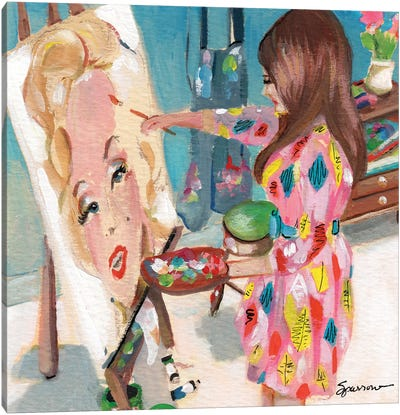 Painting Marilyn Canvas Art Print