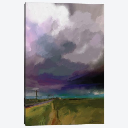 Highway Clouds Canvas Print #SPW315} by Mary Sparrow Canvas Print