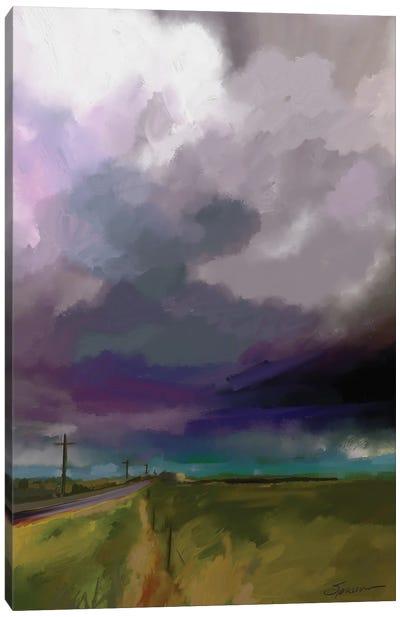 Highway Clouds Canvas Art Print