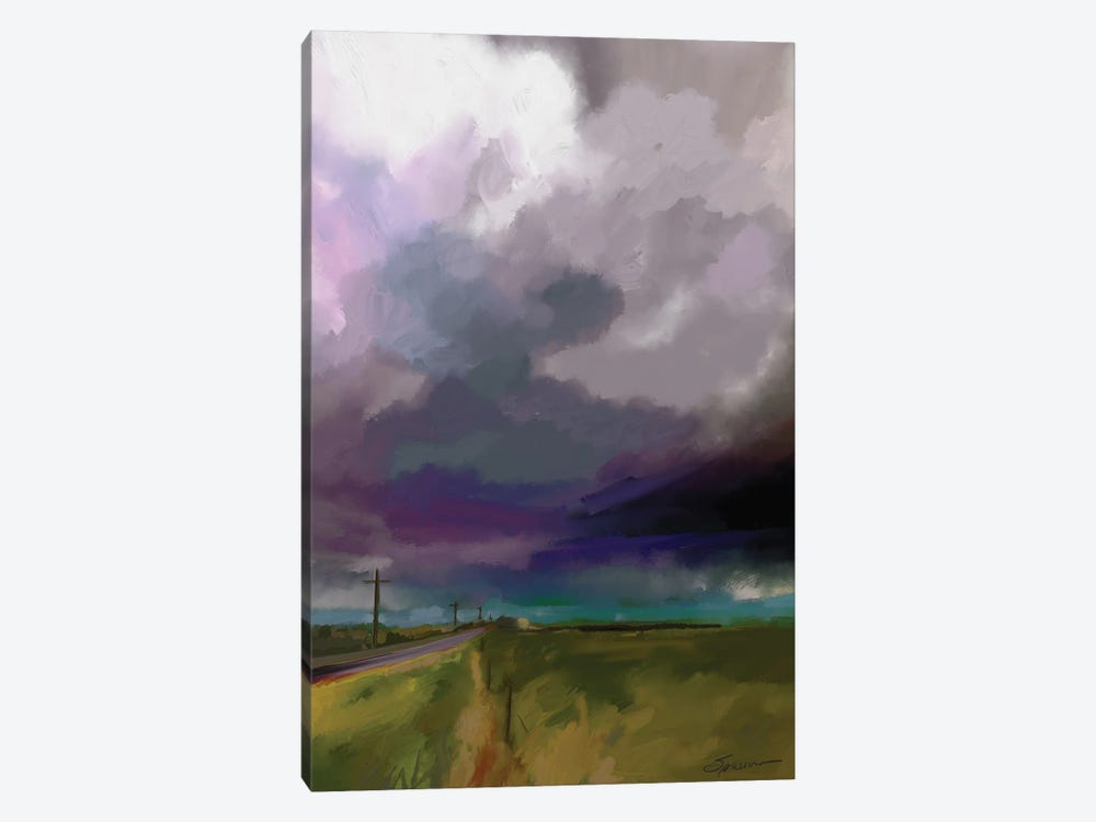 Highway Clouds by Mary Sparrow 1-piece Canvas Print