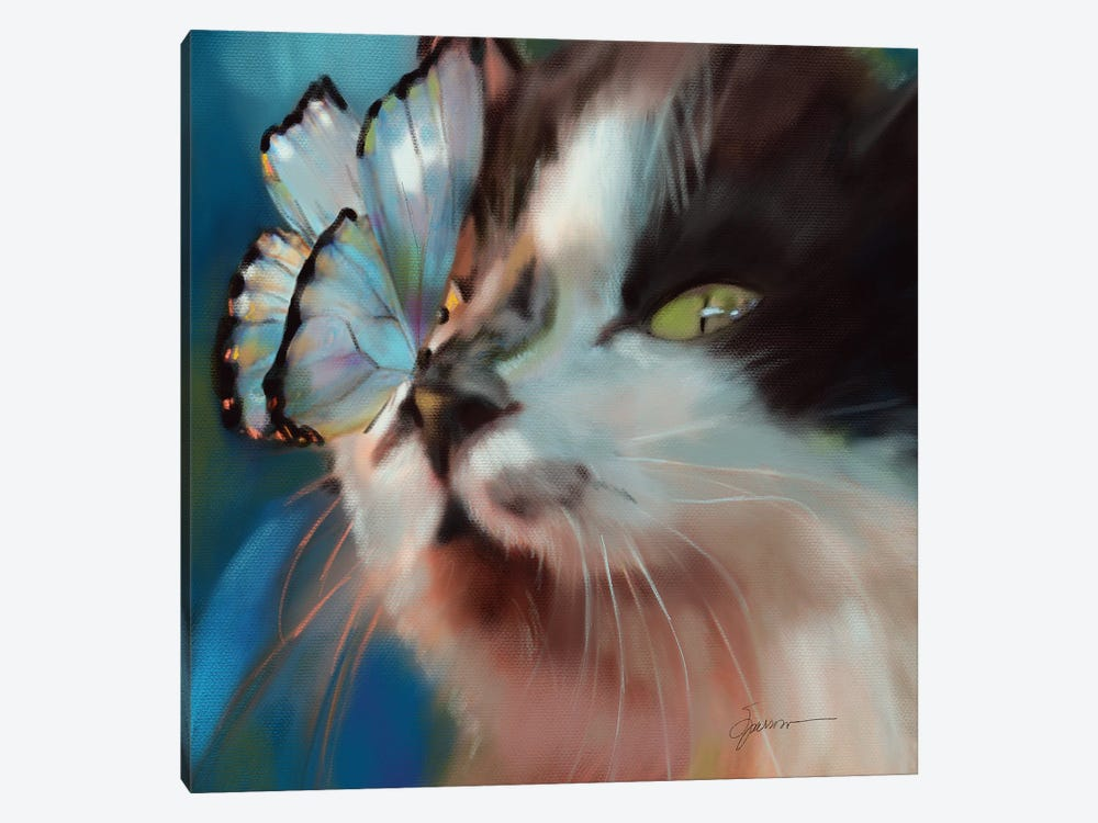 Butterfly Kisses by Mary Sparrow 1-piece Canvas Art Print
