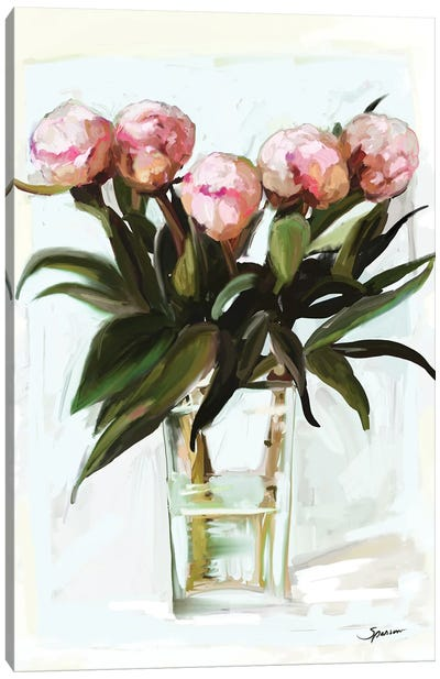Budding Peonies Canvas Art Print