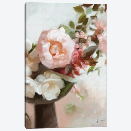 Everything's Peachy Canvas Print #SPW320} by Mary Sparrow Canvas Print