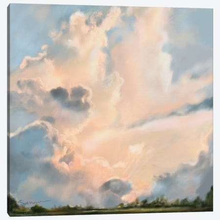 Clouds Canvas Print #SPW46} by Mary Sparrow Canvas Artwork