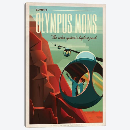Olympus Mons Space Travel Poster Canvas Print #SPX1} by SpaceX Art Print
