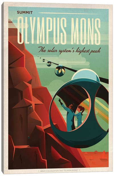 Olympus Mons Space Travel Poster Canvas Print #SPX1