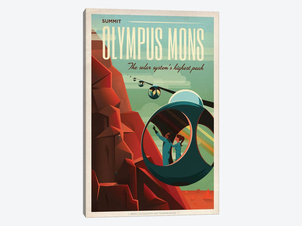 Olympus Mons Space Travel Poster by SpaceX 1-piece Art Print