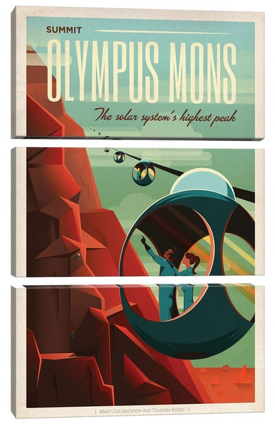 Olympus Mons Space Travel Poster Canvas Art Print
