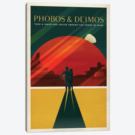 Phobos & Deimos Space Travel Poster Canvas Print #SPX2} by SpaceX Canvas Art Print