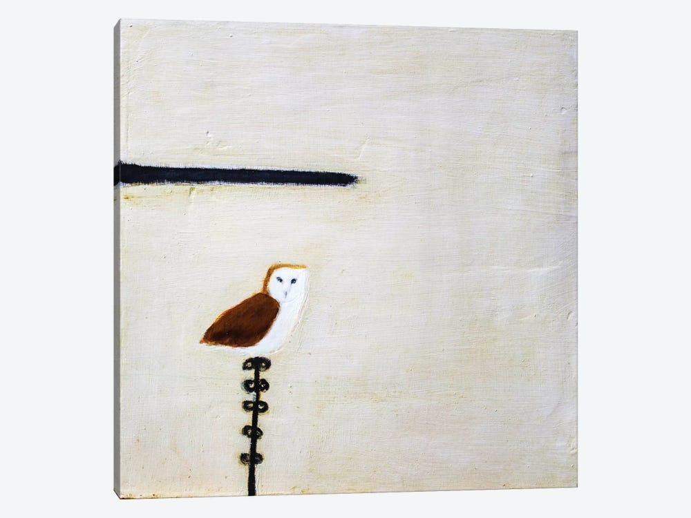 Owl On A Post by Andrew Squire 1-piece Canvas Art Print