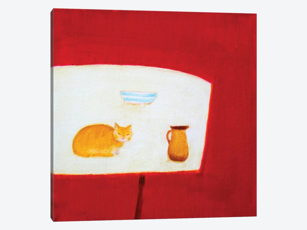 Still Life With Cat by Andrew Squire 1-piece Canvas Artwork