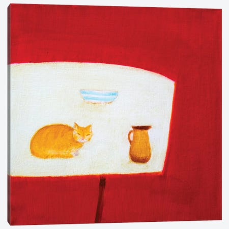 Still Life With Cat Canvas Print #SQU21} by Andrew Squire Canvas Art