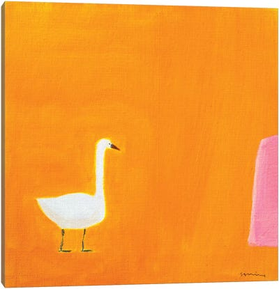 Swan Canvas Art Print