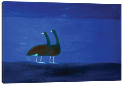Two Geese Canvas Art Print
