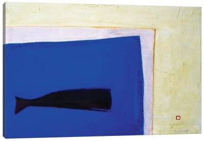 Whale Window Canvas Print #SQU30