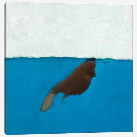 Beaver Canvas Print #SQU31} by Andrew Squire Art Print