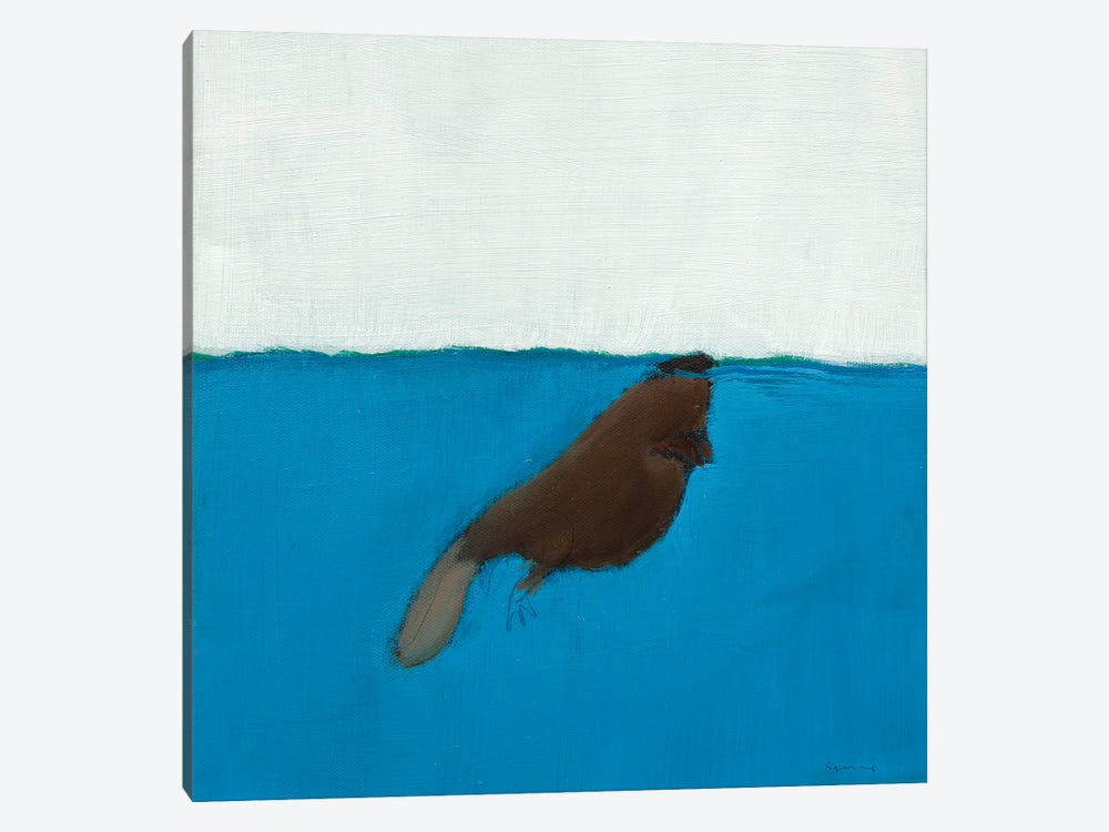 Beaver by Andrew Squire 1-piece Canvas Print