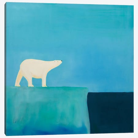 Polar Bear Canvas Print #SQU34} by Andrew Squire Canvas Art