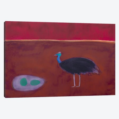 Cassowary Canvas Print #SQU37} by Andrew Squire Canvas Art