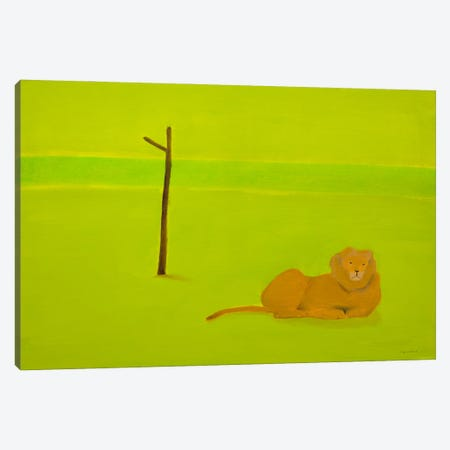 Lion & Tree Canvas Print #SQU40} by Andrew Squire Canvas Wall Art